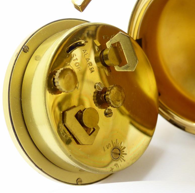 europa wecker globus mechanisch 7 jewels vergoldet 10cm voll funktionsf hig ebay. Black Bedroom Furniture Sets. Home Design Ideas